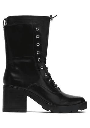Sigerson Morrison Woman Glossed Leather Boots Black Size 7