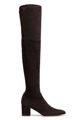 Stuart Weitzman Woman Suede Over-the-knee Boots Chocolate Size 6