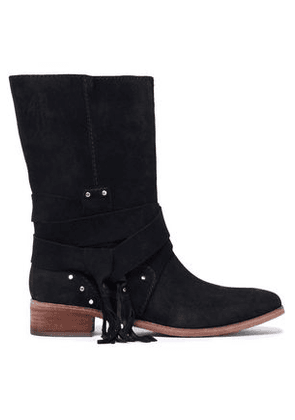 See By Chloé Woman Studded Suede Boots Black Size 35