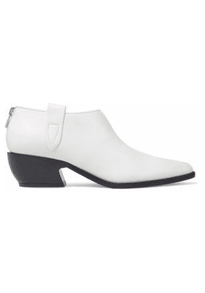 Sigerson Morrison Woman Suede Ankle Boots White Size 9