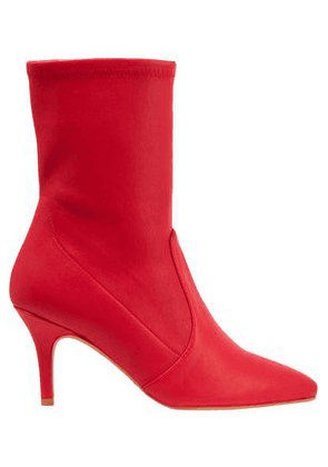 Stuart Weitzman Woman Stretch-leather Ankle Boots Red Size 36
