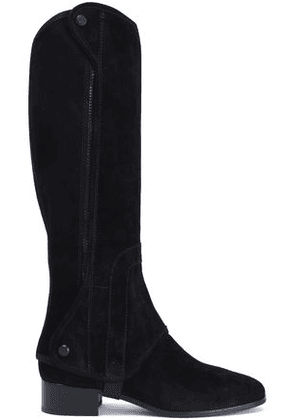 Tory Burch Woman Suede Boots Black Size 6