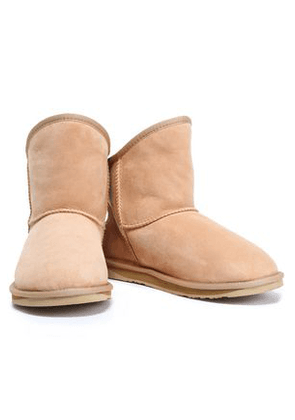 Australia Luxe Collective Woman Shearling Ankle Boots Cream Size 6