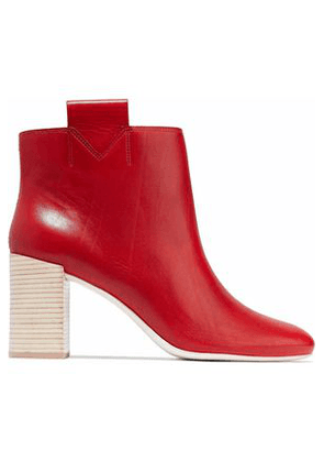 Mercedes Castillo Woman Bailee Leather Ankle Boots Red Size 6.5