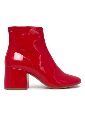 Mm6 Maison Margiela Woman Patent-leather Ankle Boots Red Size 36