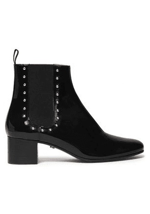 Alexachung Woman Studded Patent-leather Boots Black Size 36