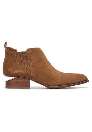 Alexander Wang Woman Suede Ankle Boots Light Brown Size 35