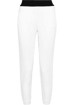 Koral Woman Pace Cropped French Terry Track Pants White Size S