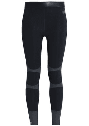 Monreal London Woman Coated-trimmed Printed Stretch Leggings Black Size XS