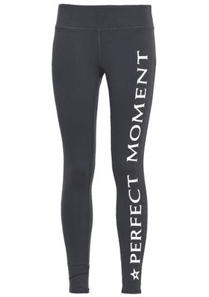 Perfect Moment Woman Printed Stretch Leggings Anthracite Size L