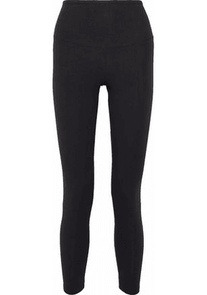 Yummie By Heather Thomson Woman Lace-up Stretch-cotton Jersey Leggings Black Size XS