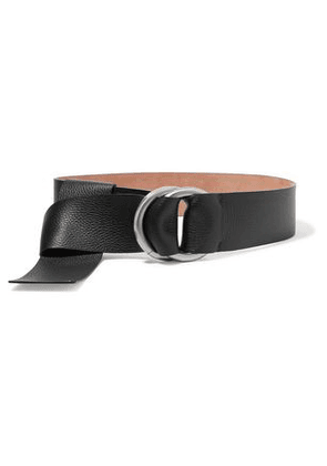 Michael Kors Collection Woman Pebbled-leather Belt Dark Brown Size XS