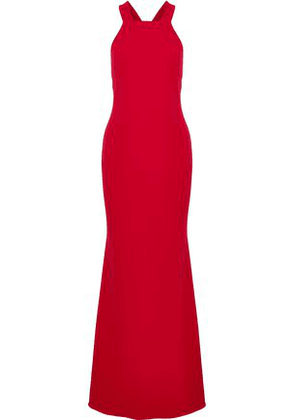 Badgley Mischka Woman Cutout Crepe Gown Red Size 14