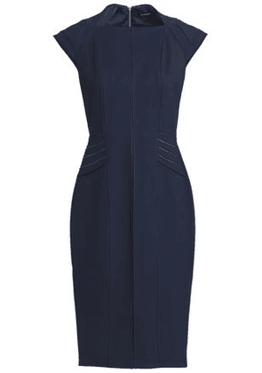 Catherine Deane Woman Satin-trimmed Ponte Dress Navy Size 8