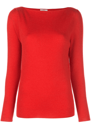 Co boatneck sweater - Red