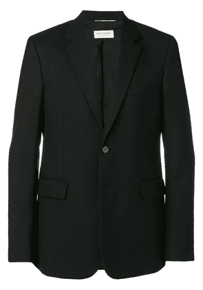 Saint Laurent fitted single breasted blazer - Black