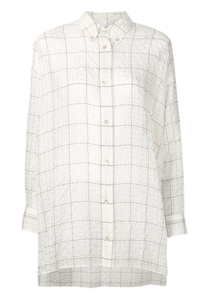 Isabel Marant crinkle check shirt - Neutrals