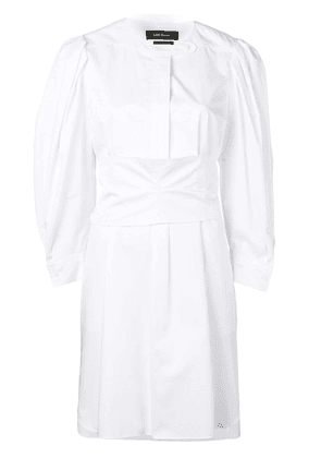 Isabel Marant band collar smock dress - White