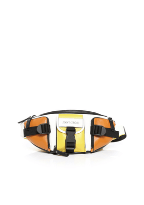 ORION Sun Satin Leather Mix Belt Bag with Sporty Finish