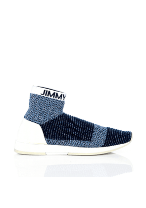 JAY Navy Mix High Top Sock Trainer