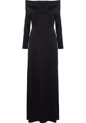 Theory Woman Off-the-shoulder Crepe Maxi Dress Black Size 8