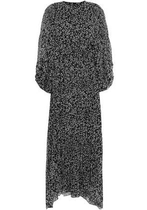 Zimmermann Woman Pleated Printed Silk-georgette Maxi Dress Black Size 0