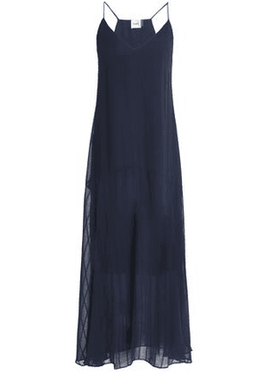 Charli Woman Carenna Chiffon-jacquard Maxi Dress Navy Size 10