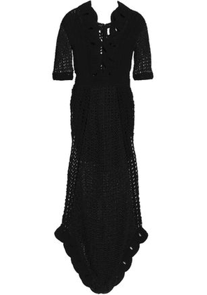 Alice Mccall Woman La La Lady Cutout Metallic Crocheted Maxi Dress Black Size 10
