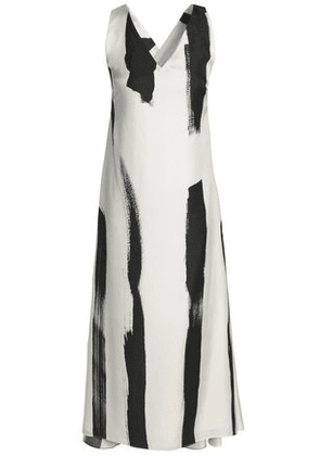 Christopher Esber Woman Printed Silk-twill Midi Dress White Size 8