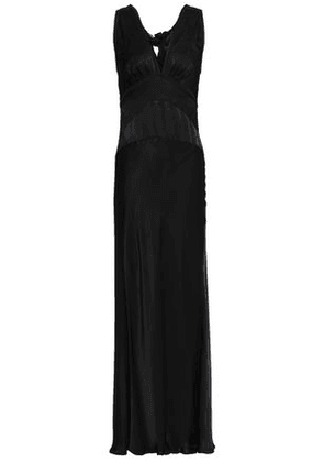 Alexachung Woman Knotted Satin-crepe Maxi Dress Black Size 6