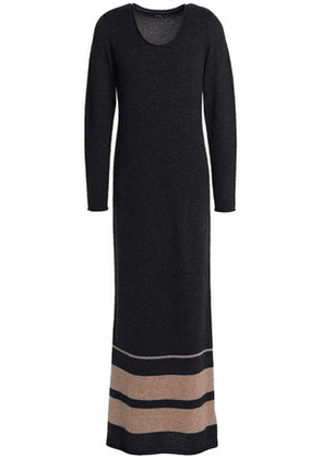 James Perse Woman Mélange Cashmere Maxi Dress Dark Gray Size 1