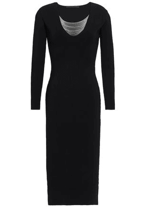 Alexander Wang Woman Chain-embellished Stretch-ponte Midi Dress Black Size XS