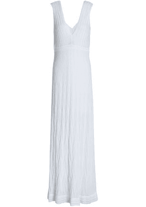 M Missoni Woman Crochet-knit Cotton-blend Maxi Dress White Size 36