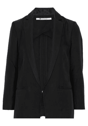 T By Alexander Wang Woman Crepe Blazer Black Size 2
