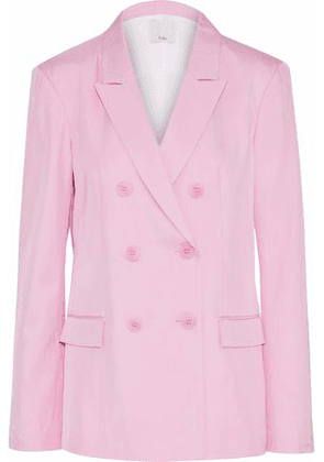 Tibi Woman Double-breasted Satin-faille Blazer Baby Pink Size 12