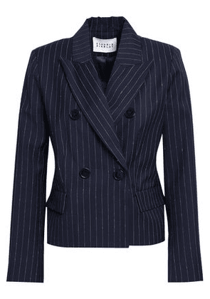 Claudie Pierlot Woman Double-breasted Pinstriped Wool-blend Blazer Navy Size 40