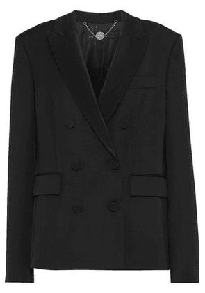 Stella Mccartney Woman Double-breasted Twill-trimmed Wool Blazer Black Size 36