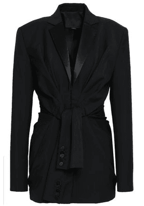 Alexander Wang Woman Satin-trimmed Wool And Mohair-blend Blazer Black Size 0