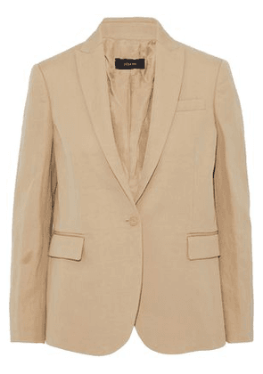 Joseph Woman Ramie And Cotton-blend Twill Blazer Sand Size 36