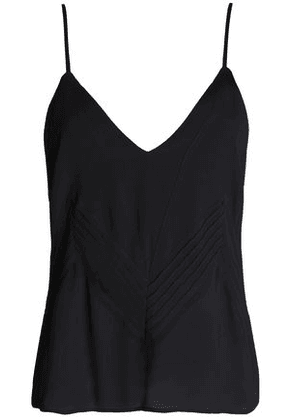 Anine Bing Woman Pintucked Crepe De Chine Camisole Black Size M