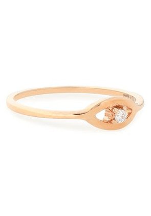 Aamaya By Priyanka Woman Rose Gold-plated Sterling Silver Crystal Ring Rose Gold Size 6