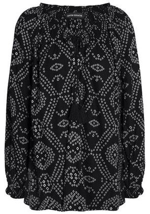 Antik Batik Woman Printed Crepe Blouse Black Size 38