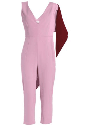 Cushnie Et Ochs Woman Draped Two-tone Crepe Jumpsuit Baby Pink Size 6