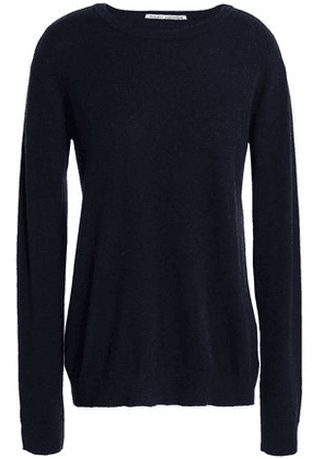 Autumn Cashmere Woman Bow-detailed Cashmere Sweater Navy Size S