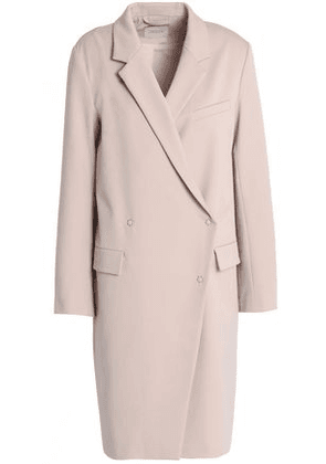 House Of Dagmar Woman Double-breasted Twill Coat Blush Size 40