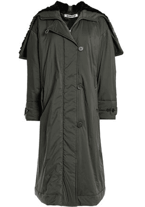 Mcq Alexander Mcqueen Woman Faux Shearling-trimmed Shell Down Coat Army Green Size 42