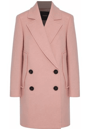 Theory Woman Cape Double-breasted Wool Coat Blush Size XS