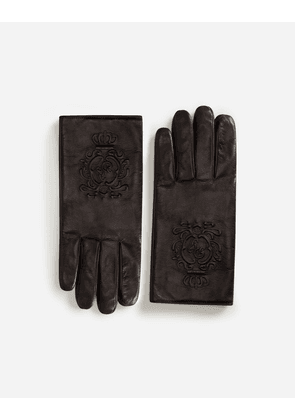 Dolce & Gabbana Hats and Gloves - NAPPA LEATHER GLOVES BLACK