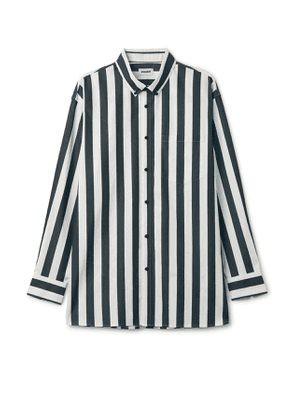 Burg Stripe Shirt - White