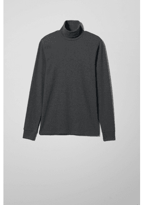 Turtle Rib Long Sleeve - Black